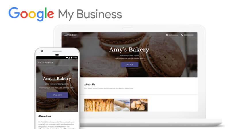 Site internet avec google my business