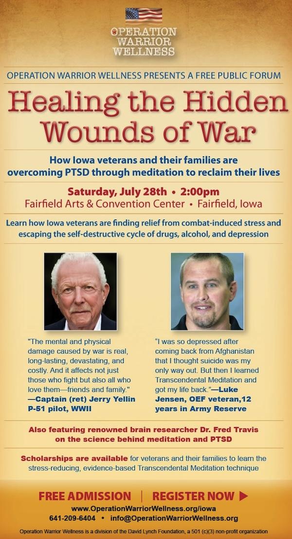 Operation Warrior Wellness public forum