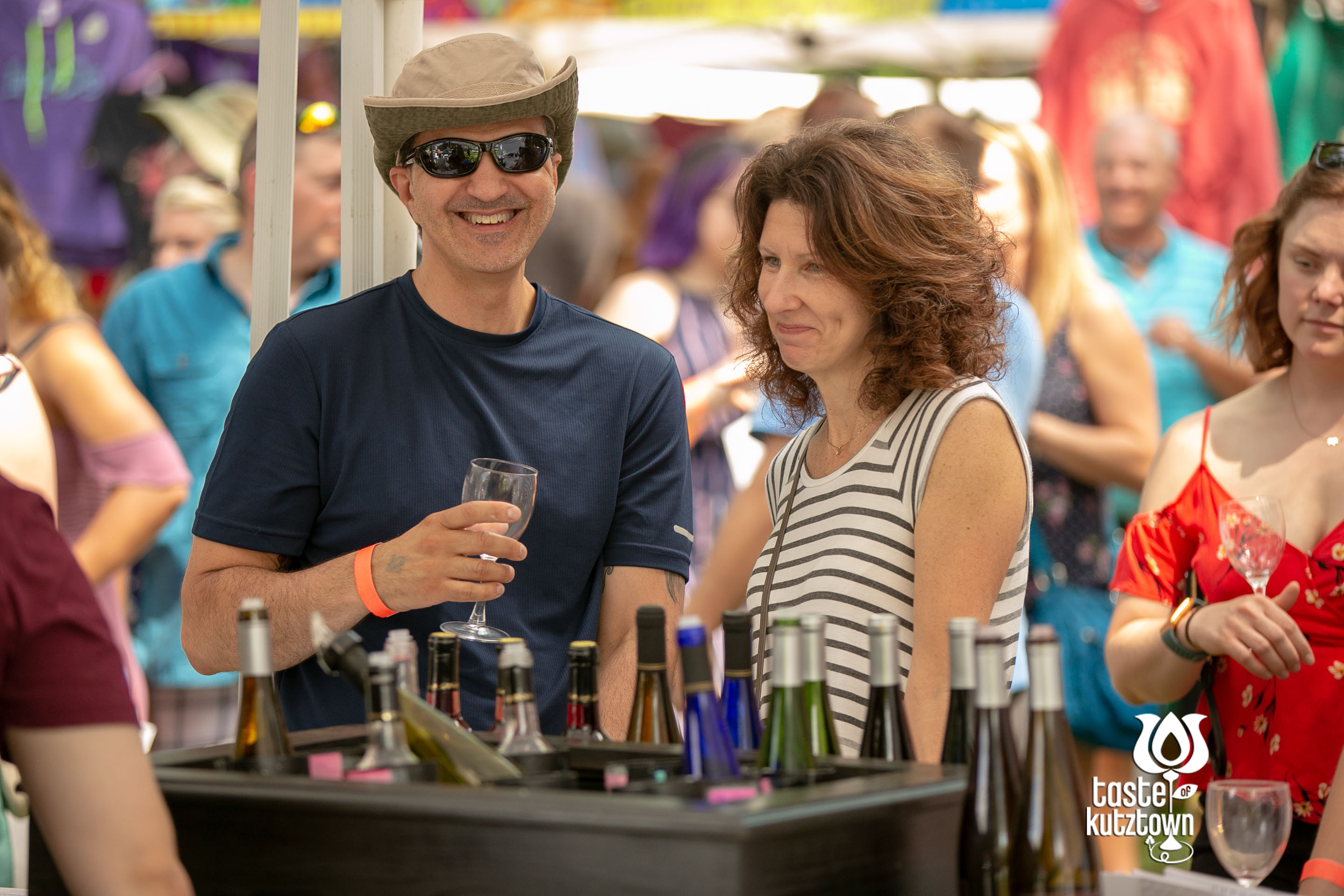 Taste of Kutztown Wine & Beer Festival, Couple wine tasting