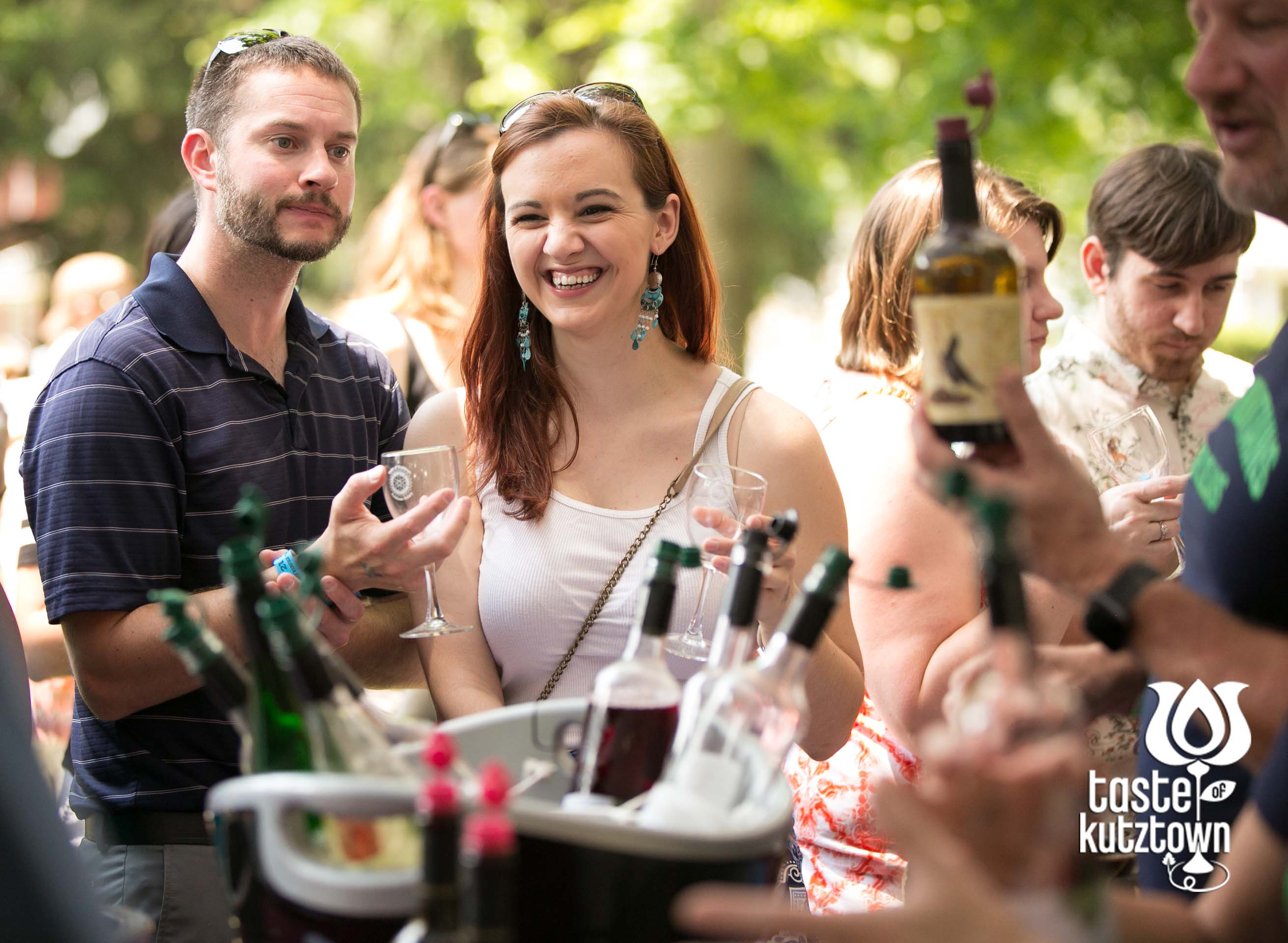 Couple wine tasting at the Taste of Kutztown Wine & Beer Festival