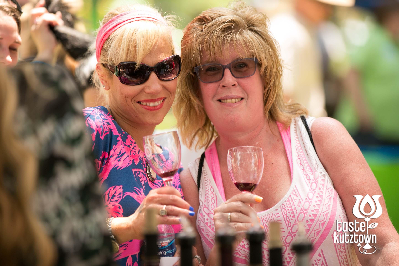 Friends at wine & beer tasting at the Taste of Kutztown Wine & Beer Festival