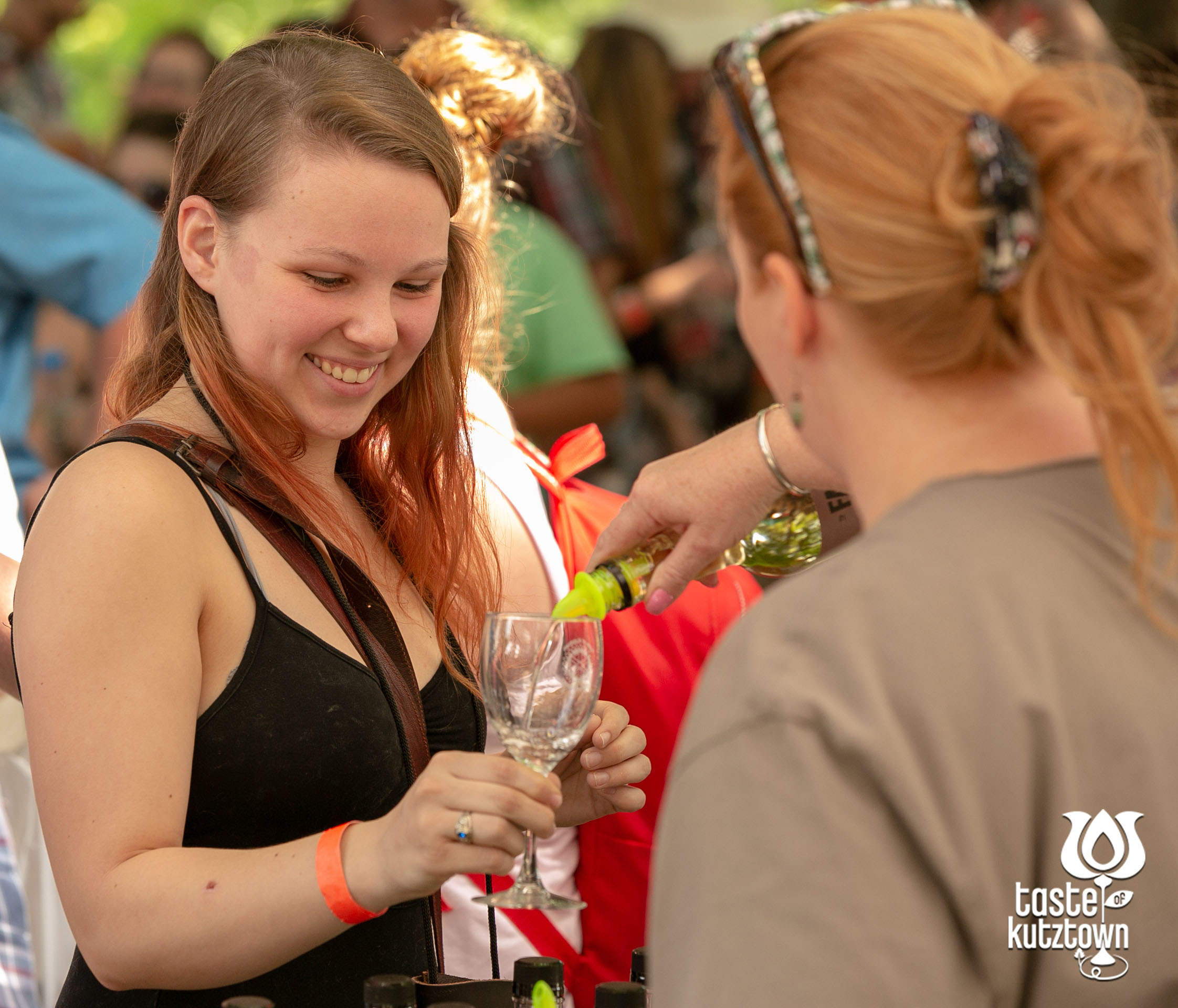 Taste of Kutztown Wine & Beer Festival, group having fun outdoor wine festival