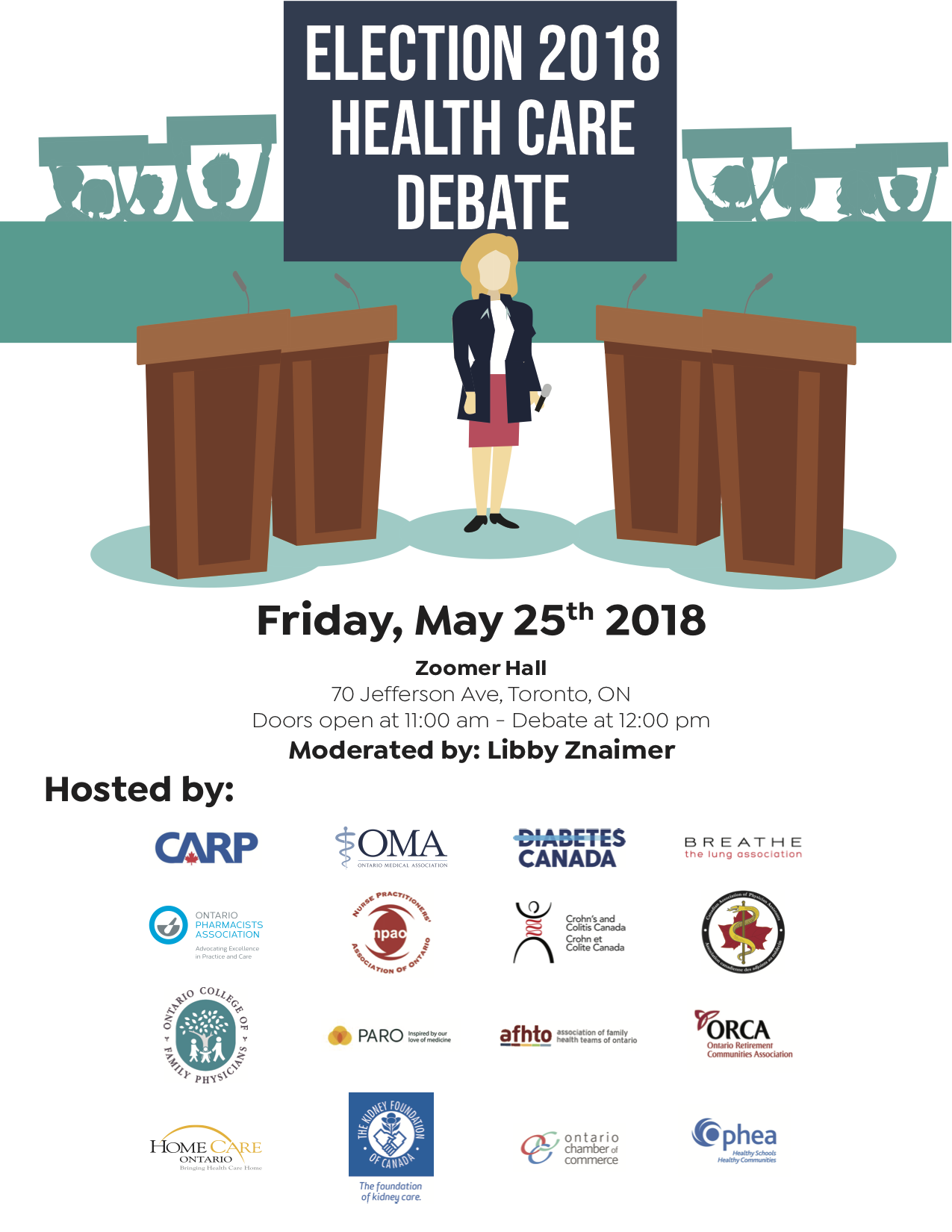 Election 2018 Health Care Debate - Friday, May 25th 2018