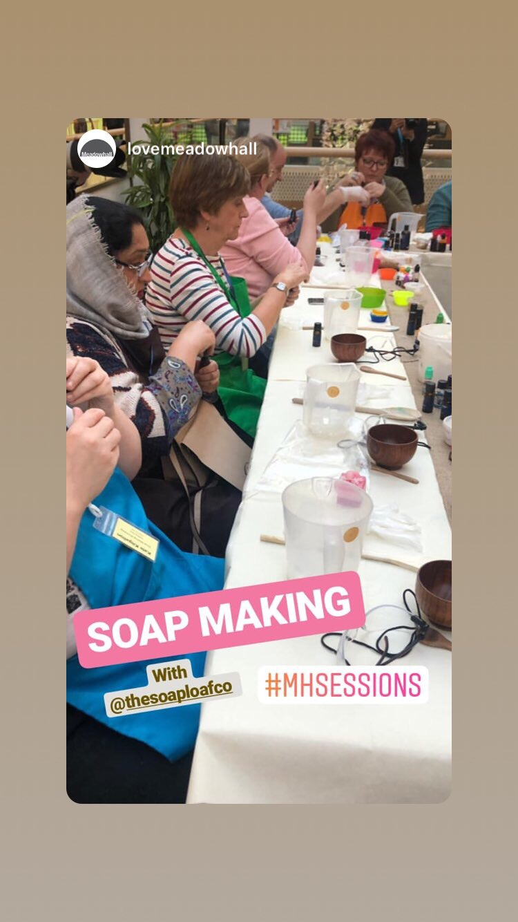 Soap making workshop Meadowhall #mhsessions Cosmeti-craft the Soap Loaf Company