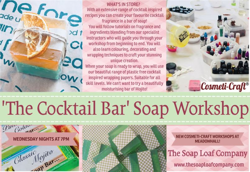 Cocktail bar soap workshop