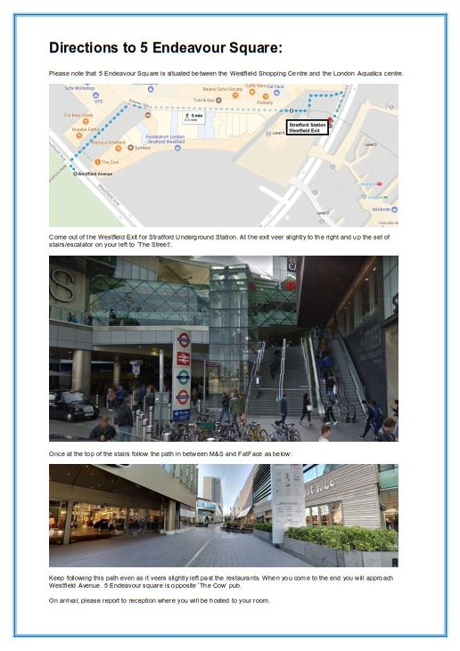 Directions to Endeavour Square