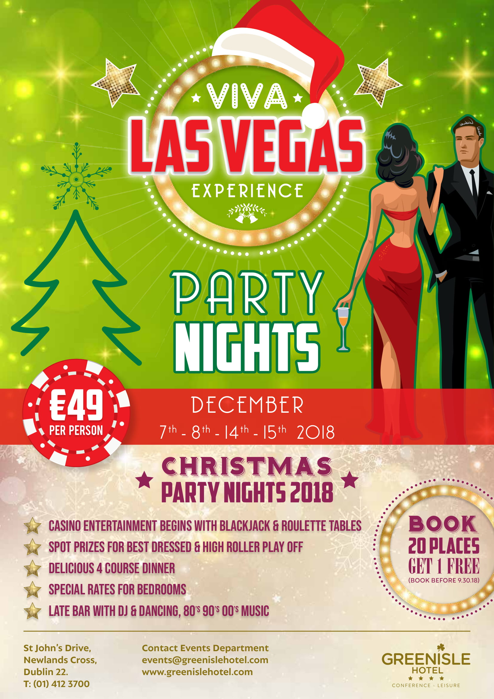 Las Vegas Christmas Party Night