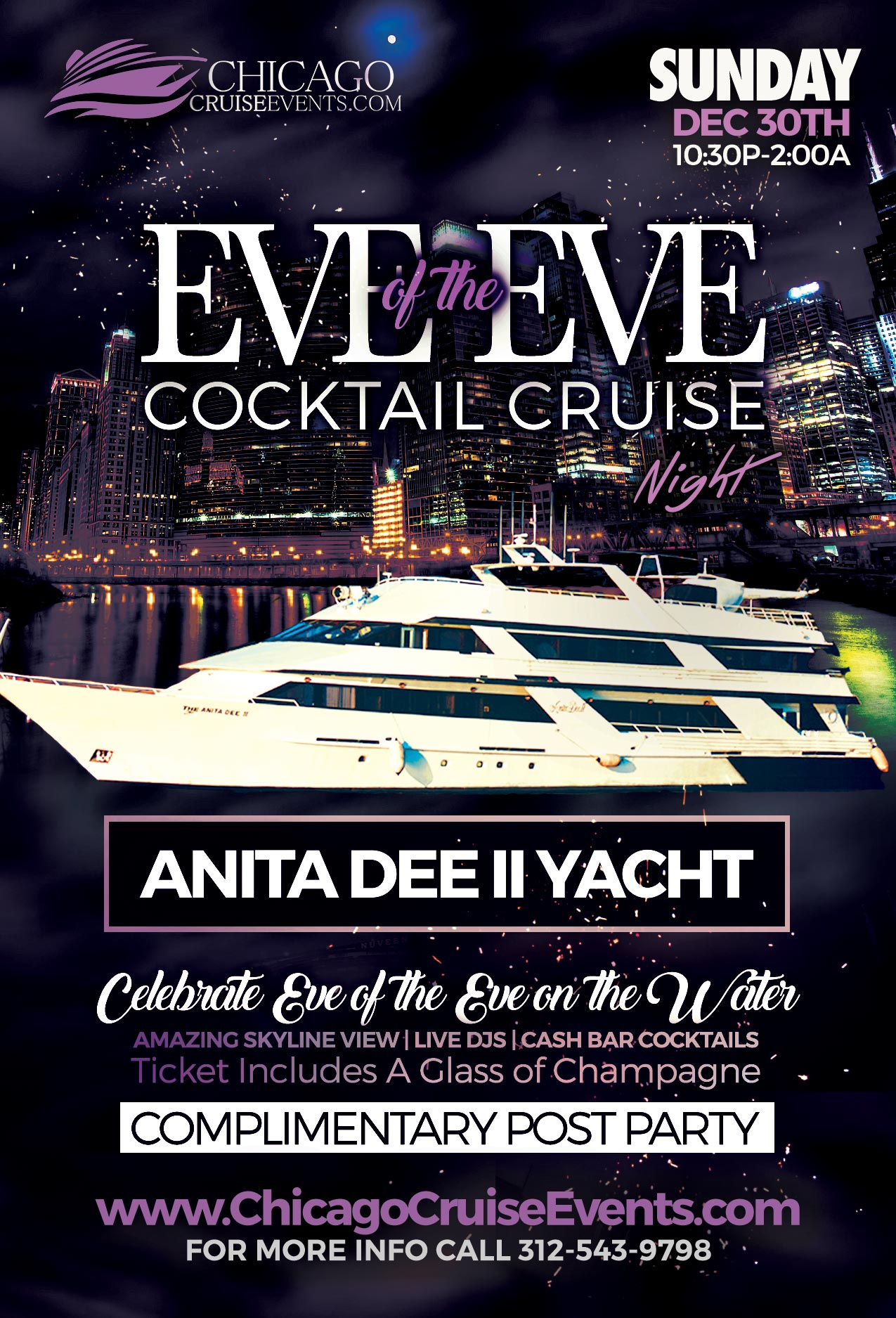 Eve of the Eve New Years Eve Night Cocktail Cruises