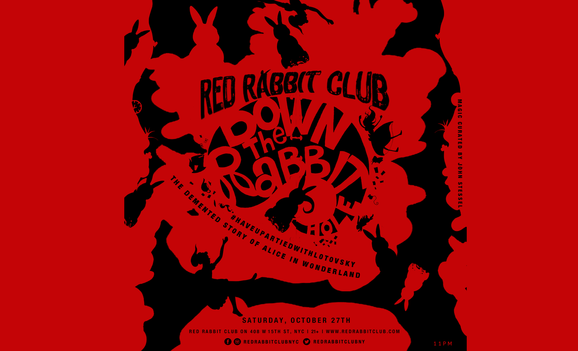 Red Rabbit Club NYC - Halloween Weekend - Down The Rabbit Hole - Oct 27