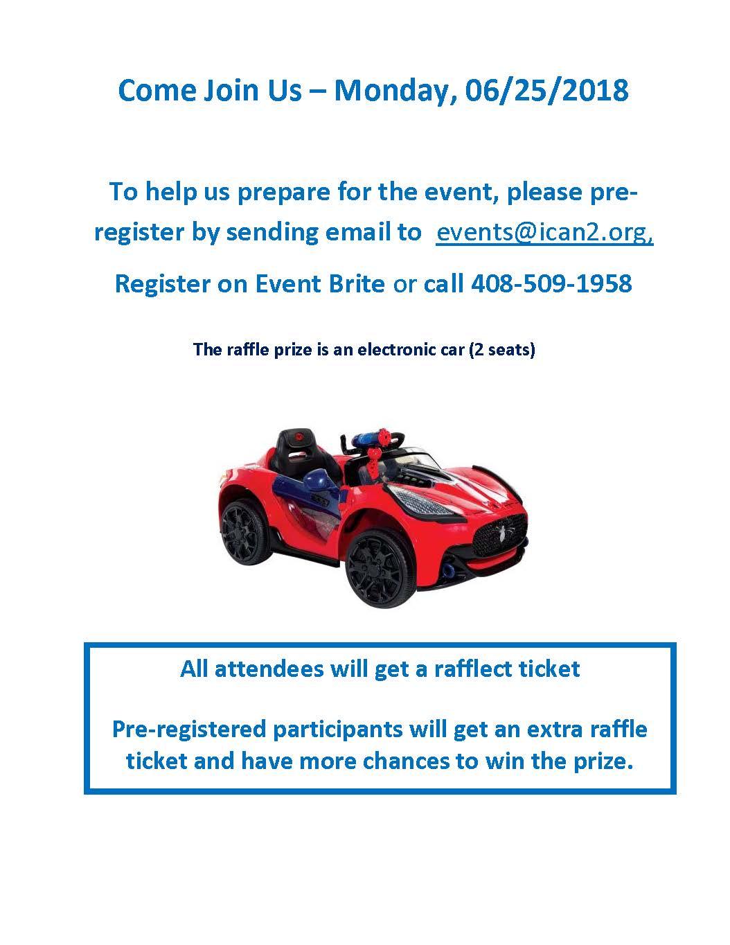 Electric Car - Raffle prize