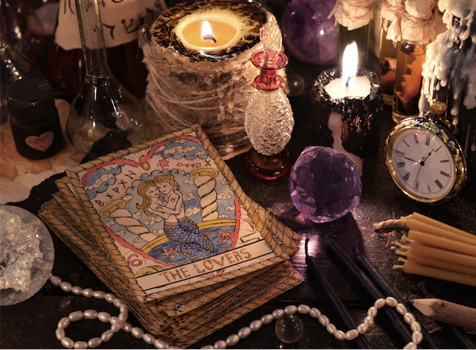 Practical Magic Tarot Divination Series altar