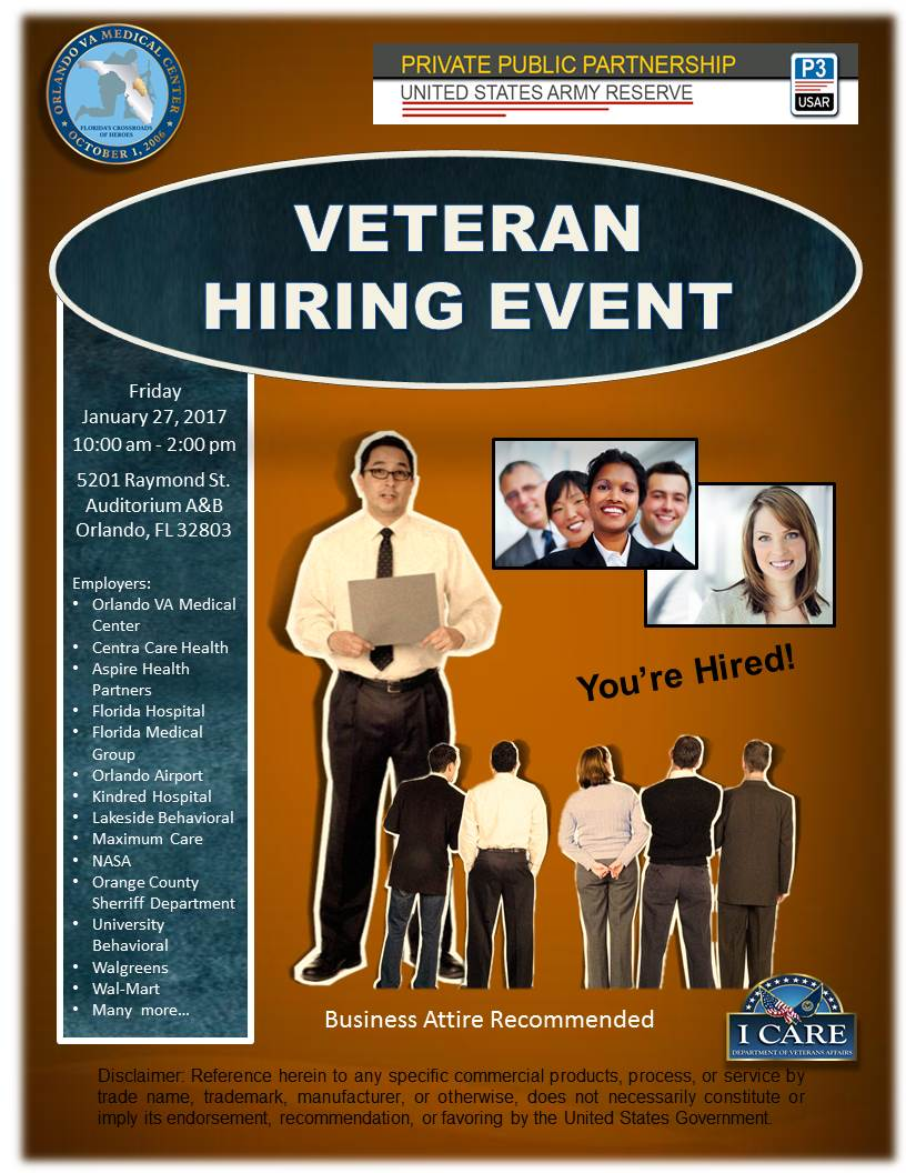 veteran hiring event tickets fri jan 27 2017 at 10 00 am