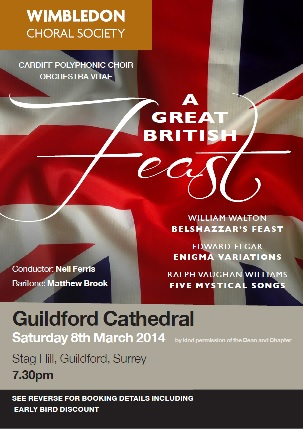 A Great British Feast - concert flyer