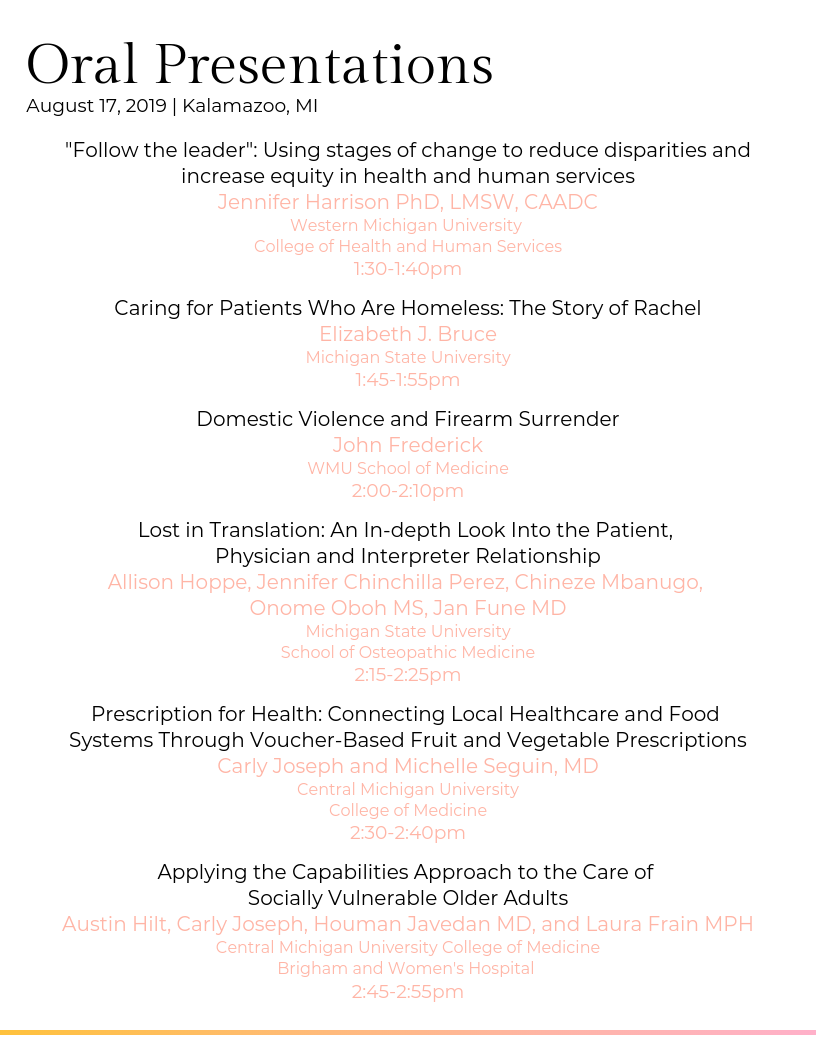 WMed 2nd Annual Health Equity Summit - 17 AUG 2019