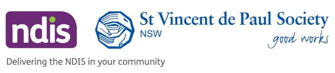 St Vincent de Paul Society and NDIS Logo
