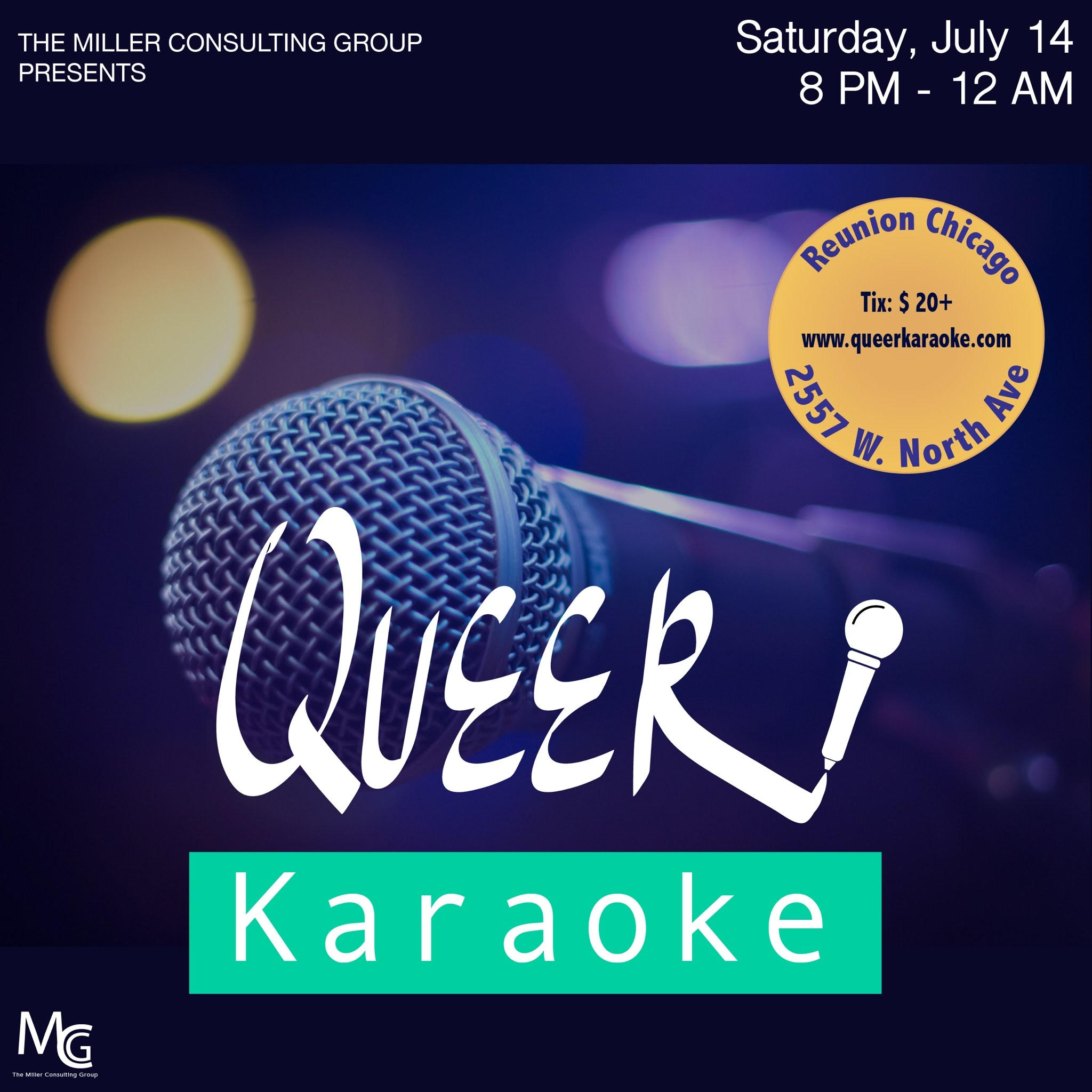 Queer-Karaoke-Miller-Consulting-Group-Chicago-Flyer