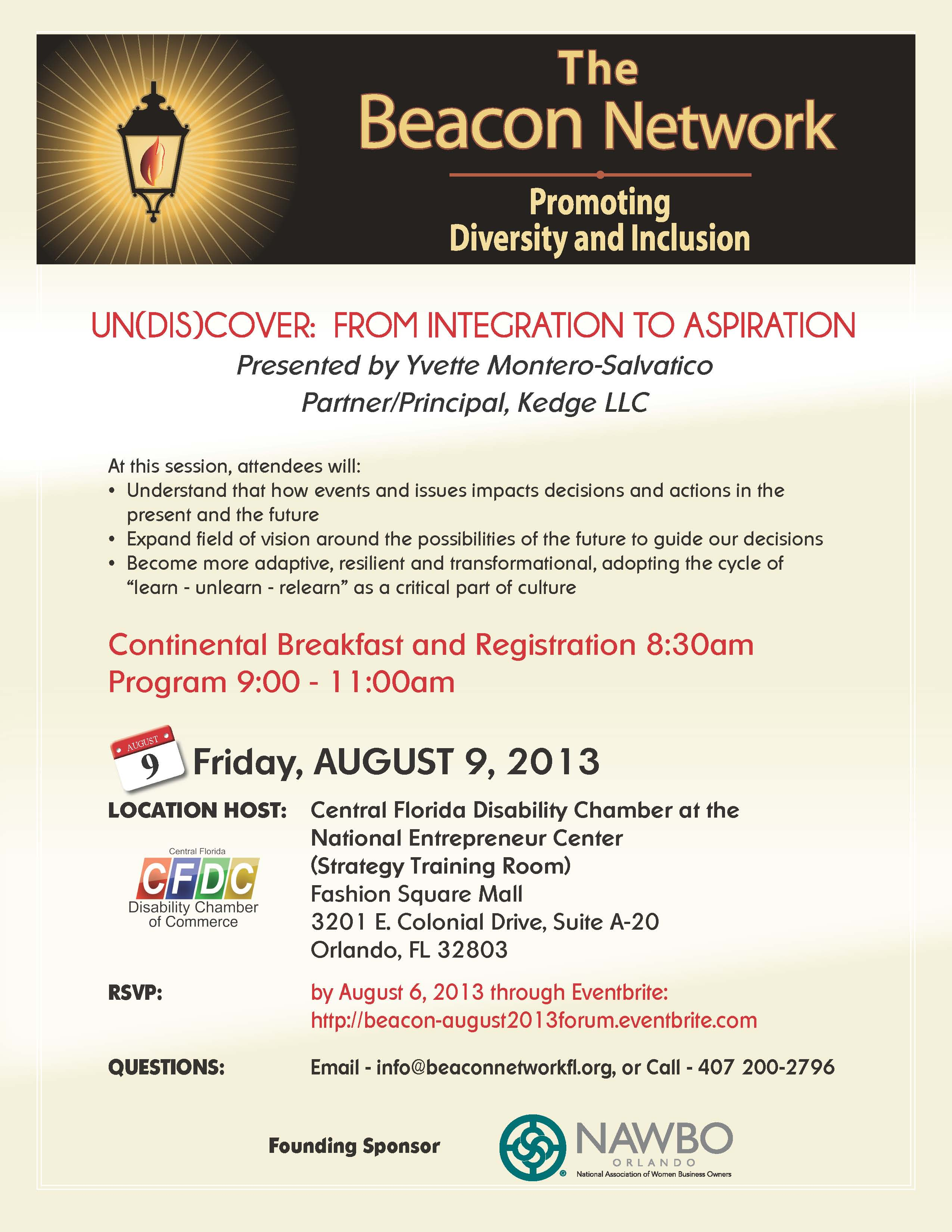 Image: Beacon Network Forum August 09, 2013 Announcement