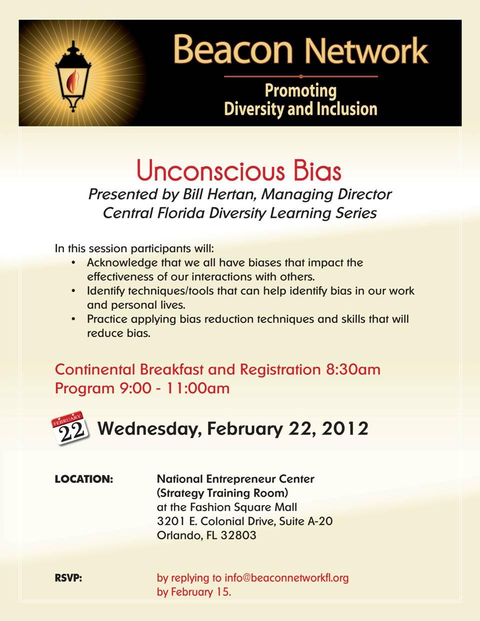 Beacon Network February 2012 Forum Flyet
