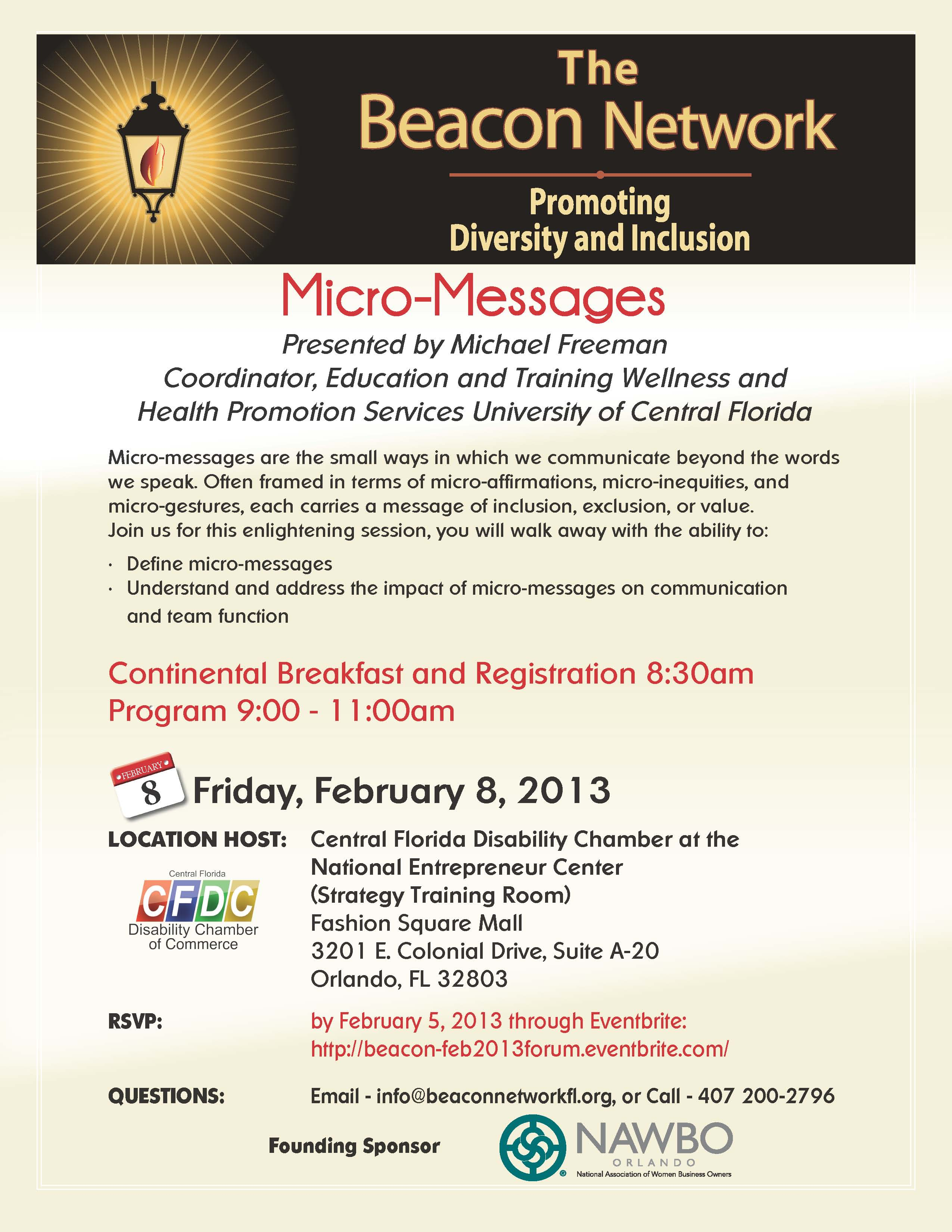 Beacon Forum February 8, 2013 Flyer Image