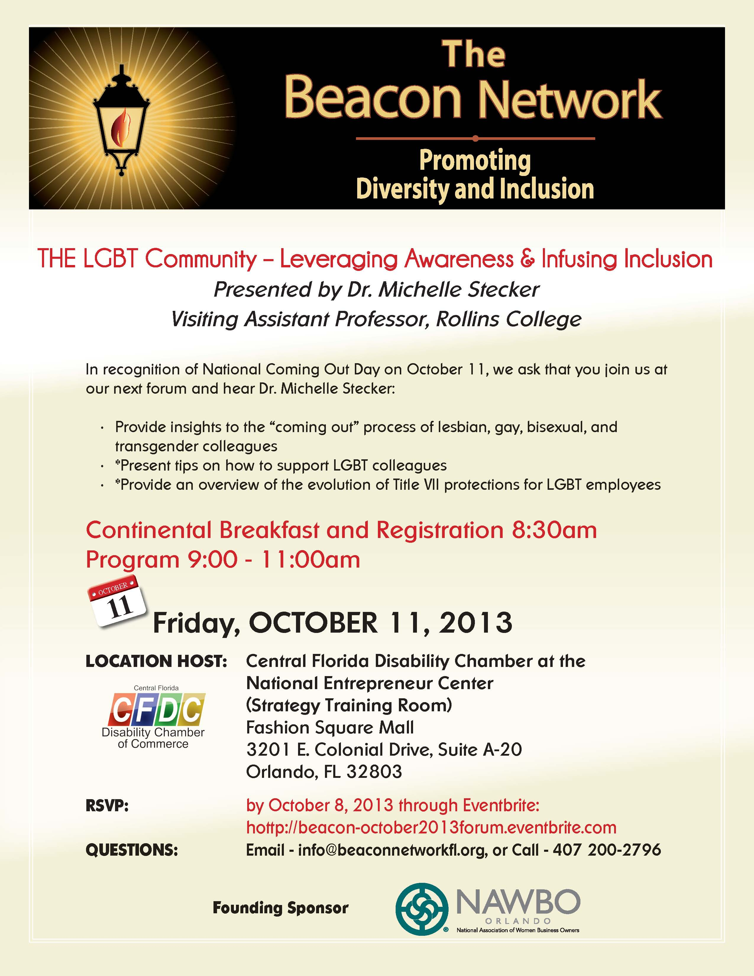 Save the date flyer image. Beacon Forum October 11, 2013.