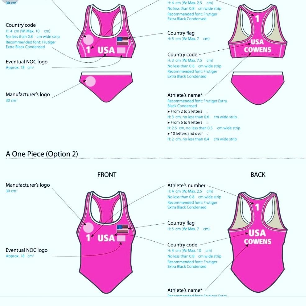 Women Olympics Body Suit