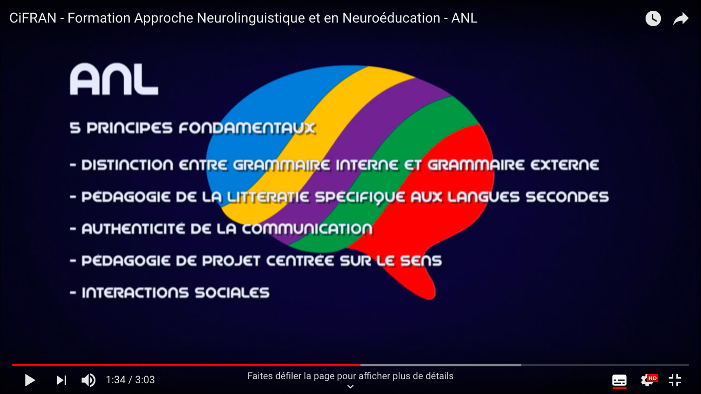 ANL, 5 principes (Vidéo CiFRAN)