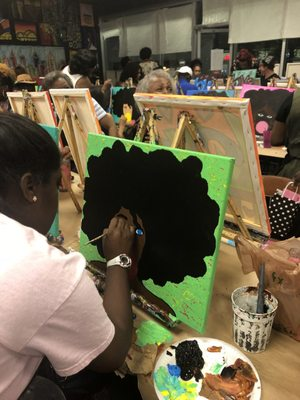 Paint Party + Live Art Demonstration