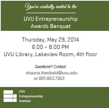 UVU Entrepreneurship Awards Banquet 2014