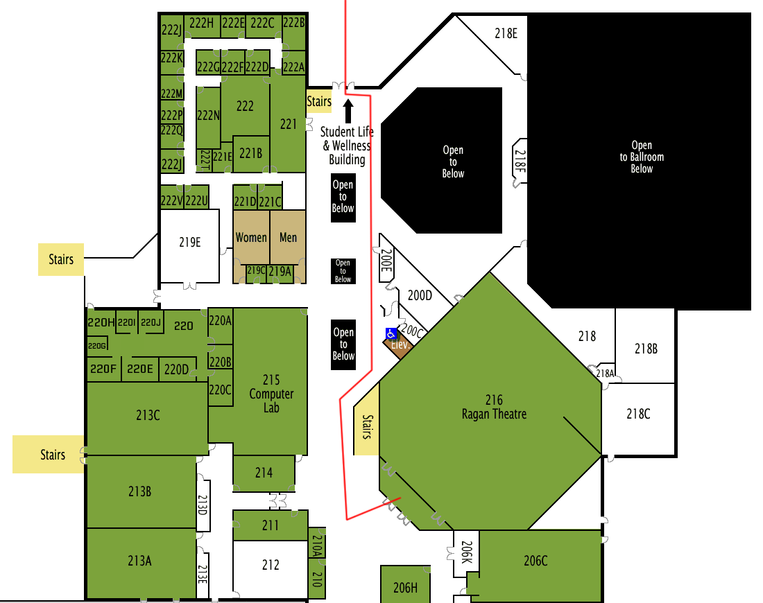 UVU Ragan Theater Map