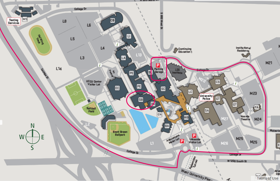UVU Science Building Map