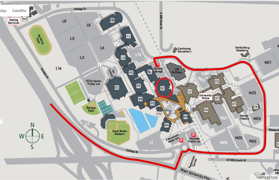 UVU Sorenson Center Map