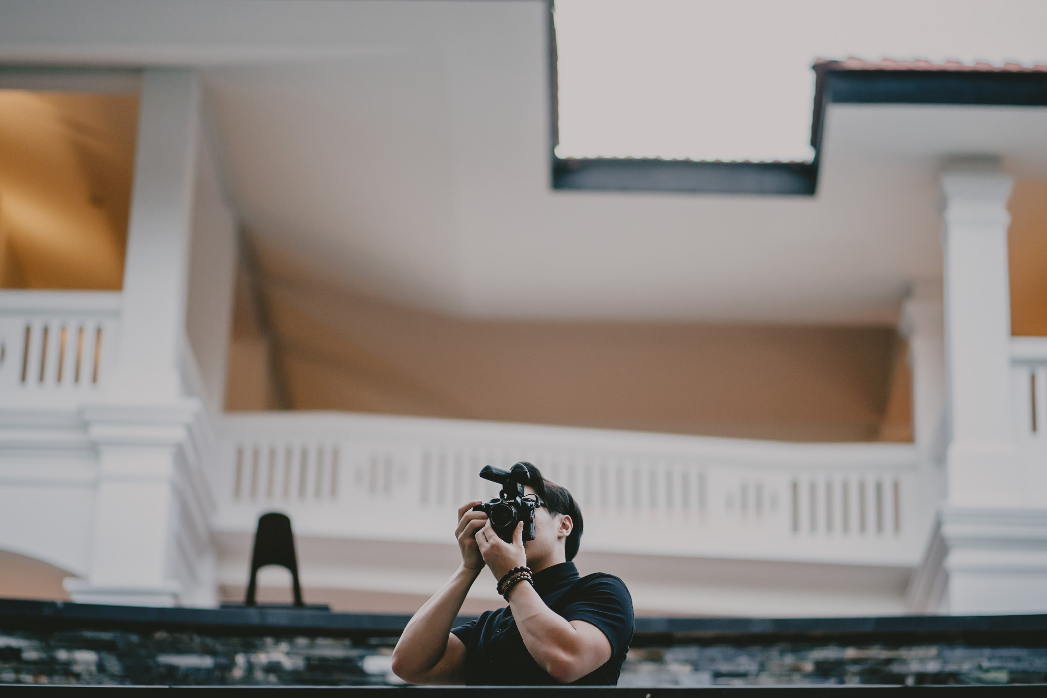 Yukee Ong Filming at Eurekahedge Fund