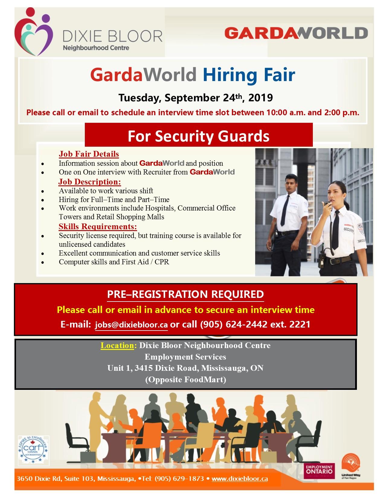 gardaworld - hiring fair