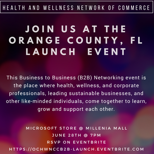 Health and Wellness Network of Commerce Launch Party