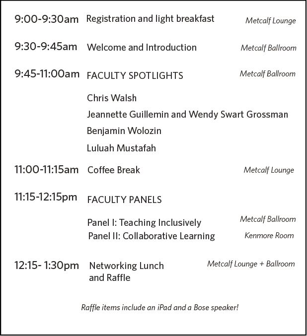 Schedule at a glance for Ninth Annual Educational Innovation Conference