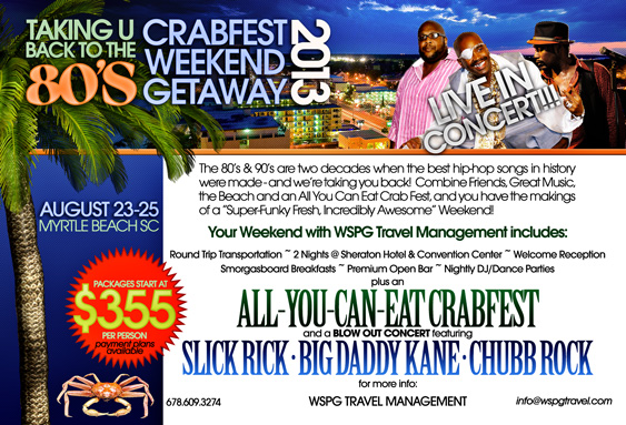 Back to the 80's Crabfest Weekend