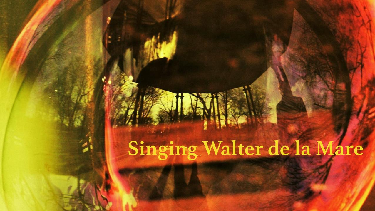 Singing Walter de la Mare, concert banner