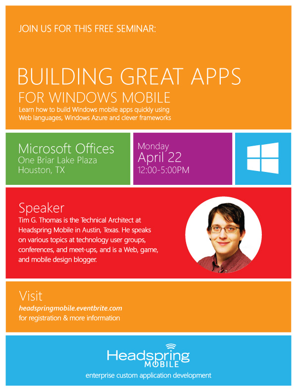 Building Great Apps for the Windows Store Poster