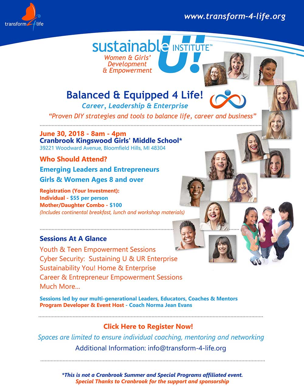 Sustainable U! 2018 Poster