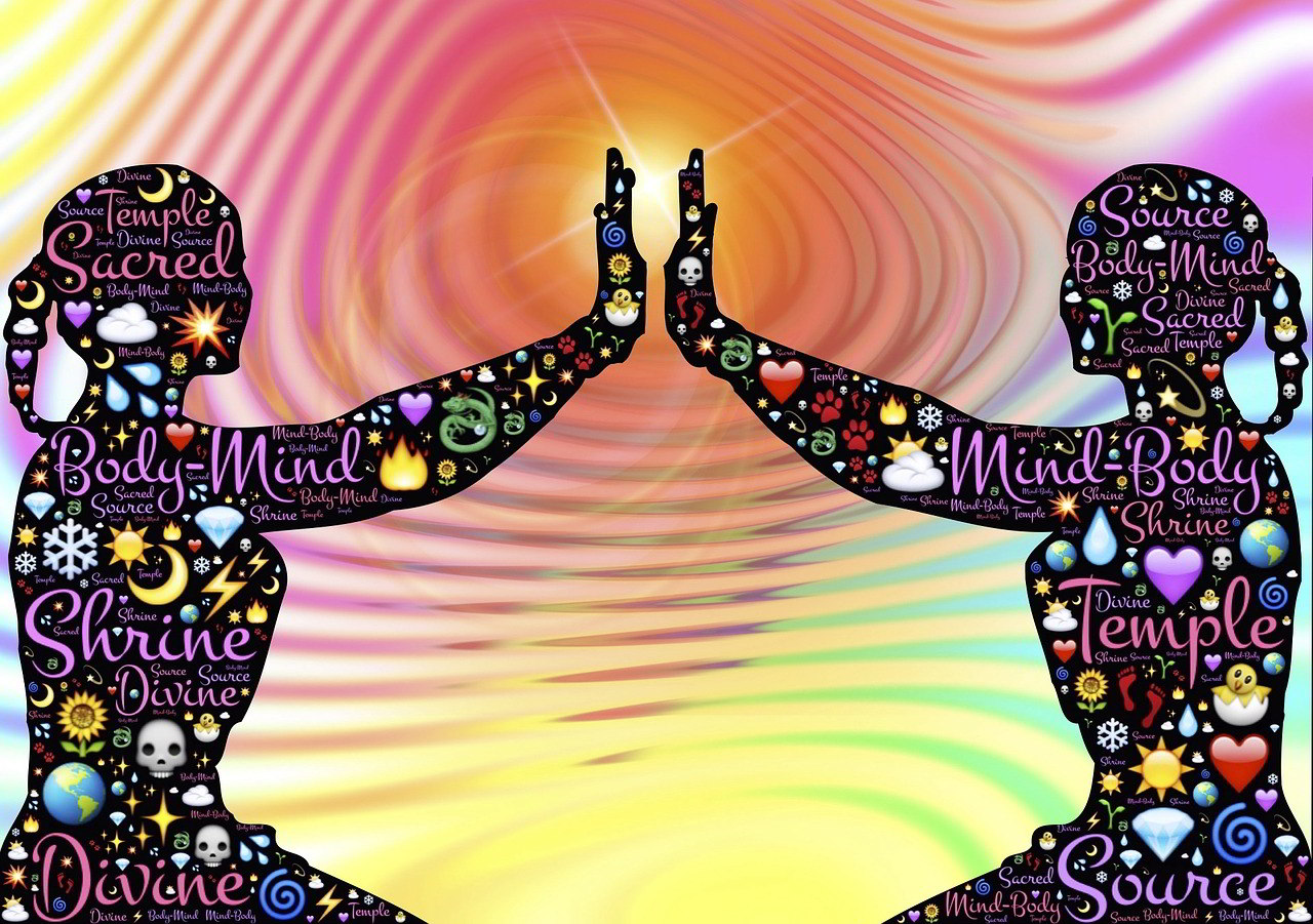Two yogis in divine connection
