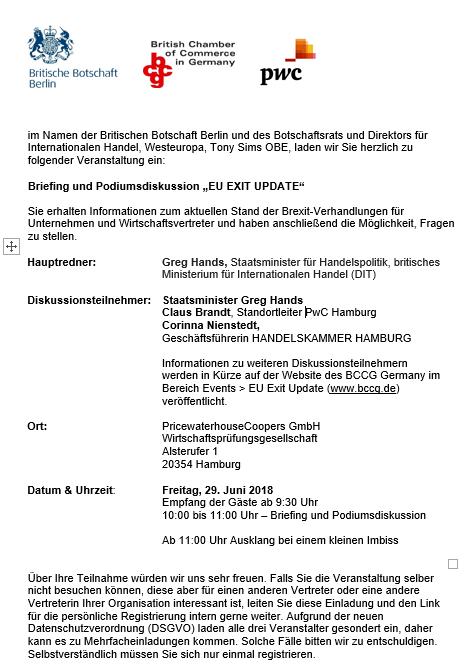 EU EXIT Update Einladung