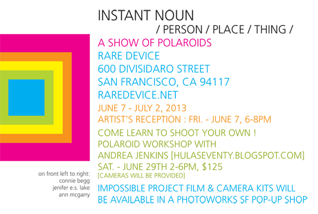 Instant Noun Polaroid Workshop