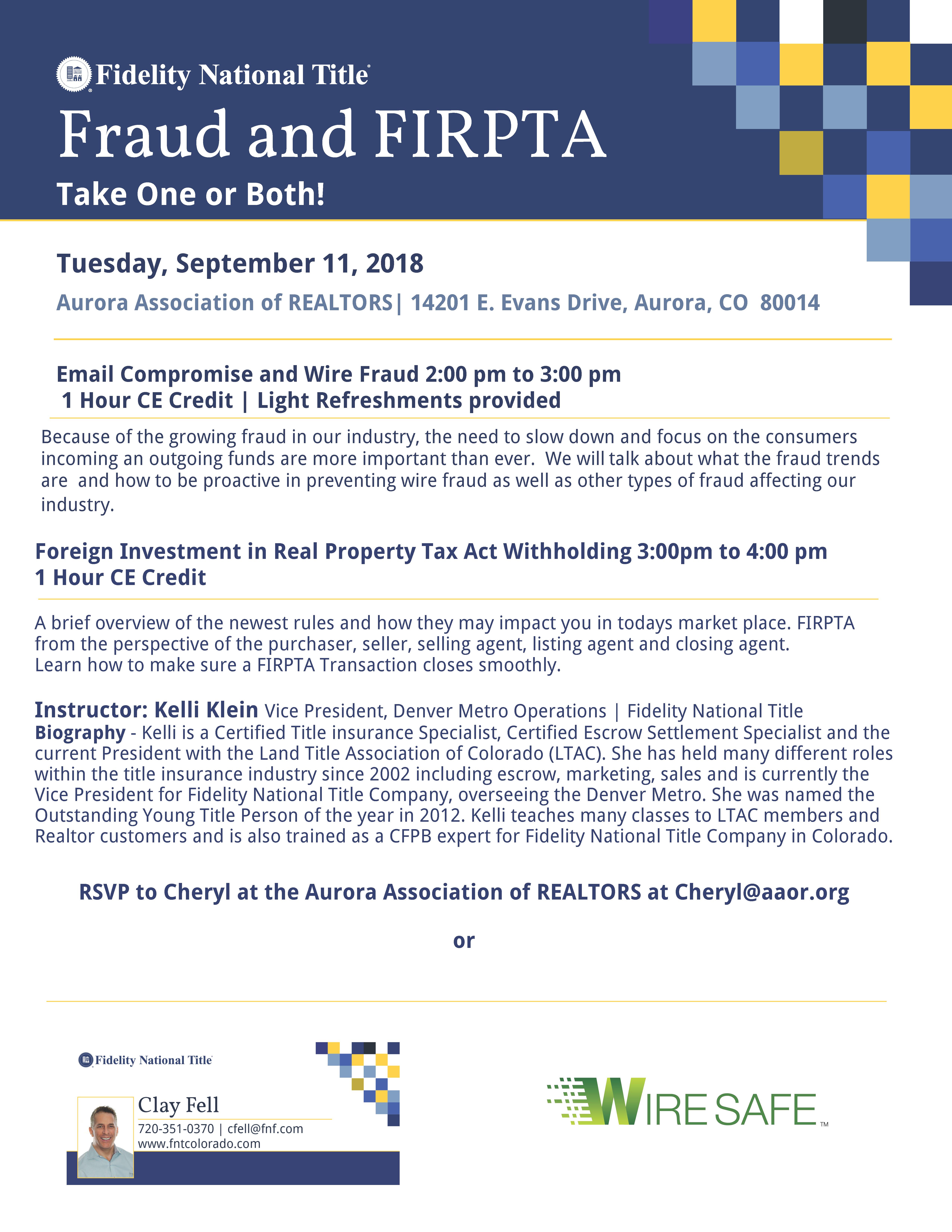 Fraud FIRPTA Tickets Tue Oct At PM Eventbrite - Daltile aurora