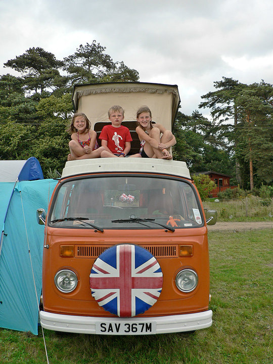 Happy times - children love VW Whitenoise as much as the adults!