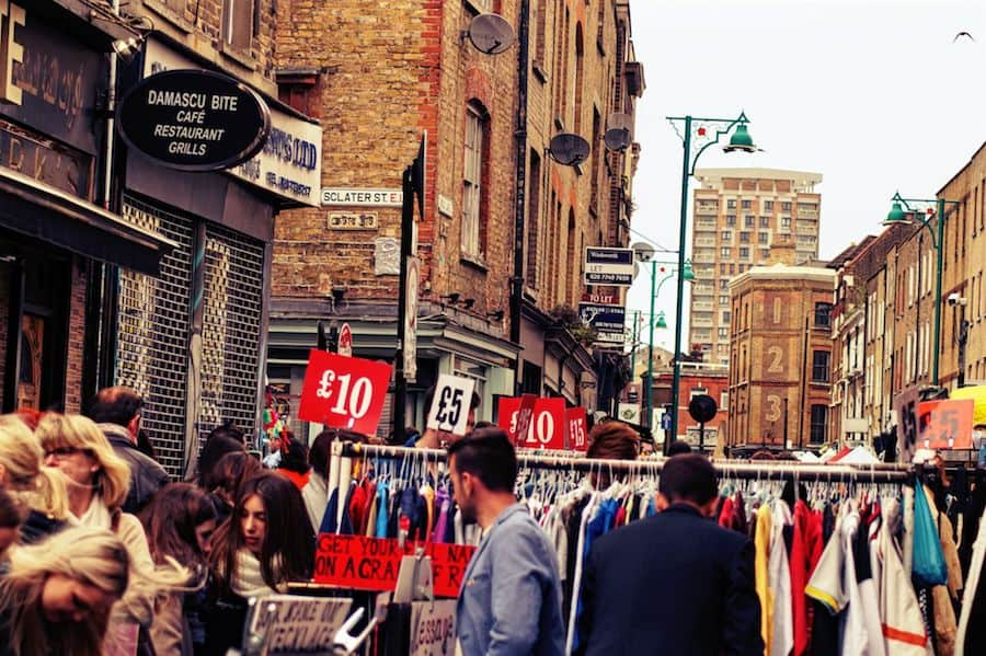 Vintage shopping in london with a vintage shop owner