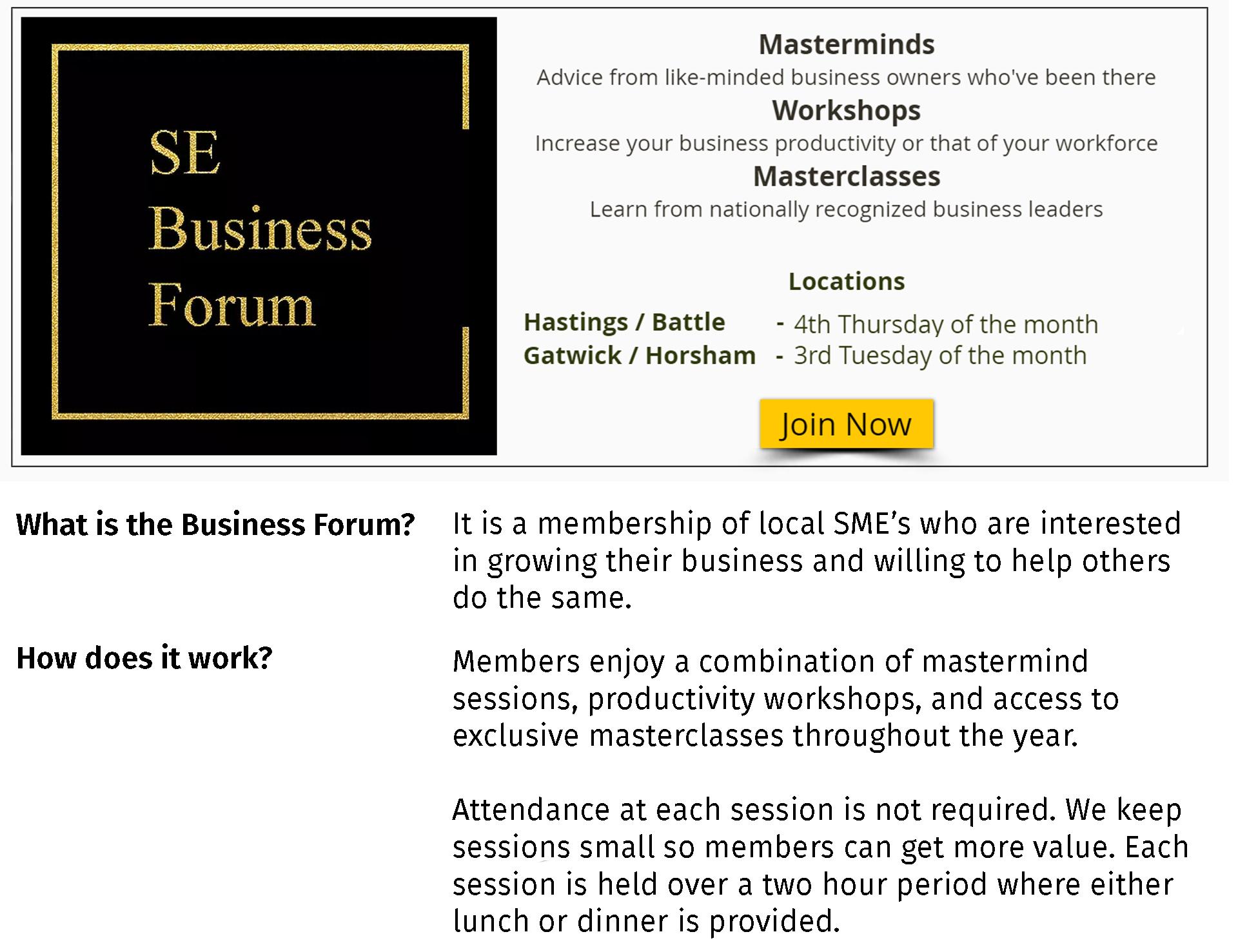 SE Business Forum Mastermind