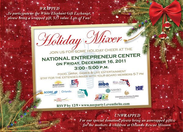 nec holiday mixer 3pm