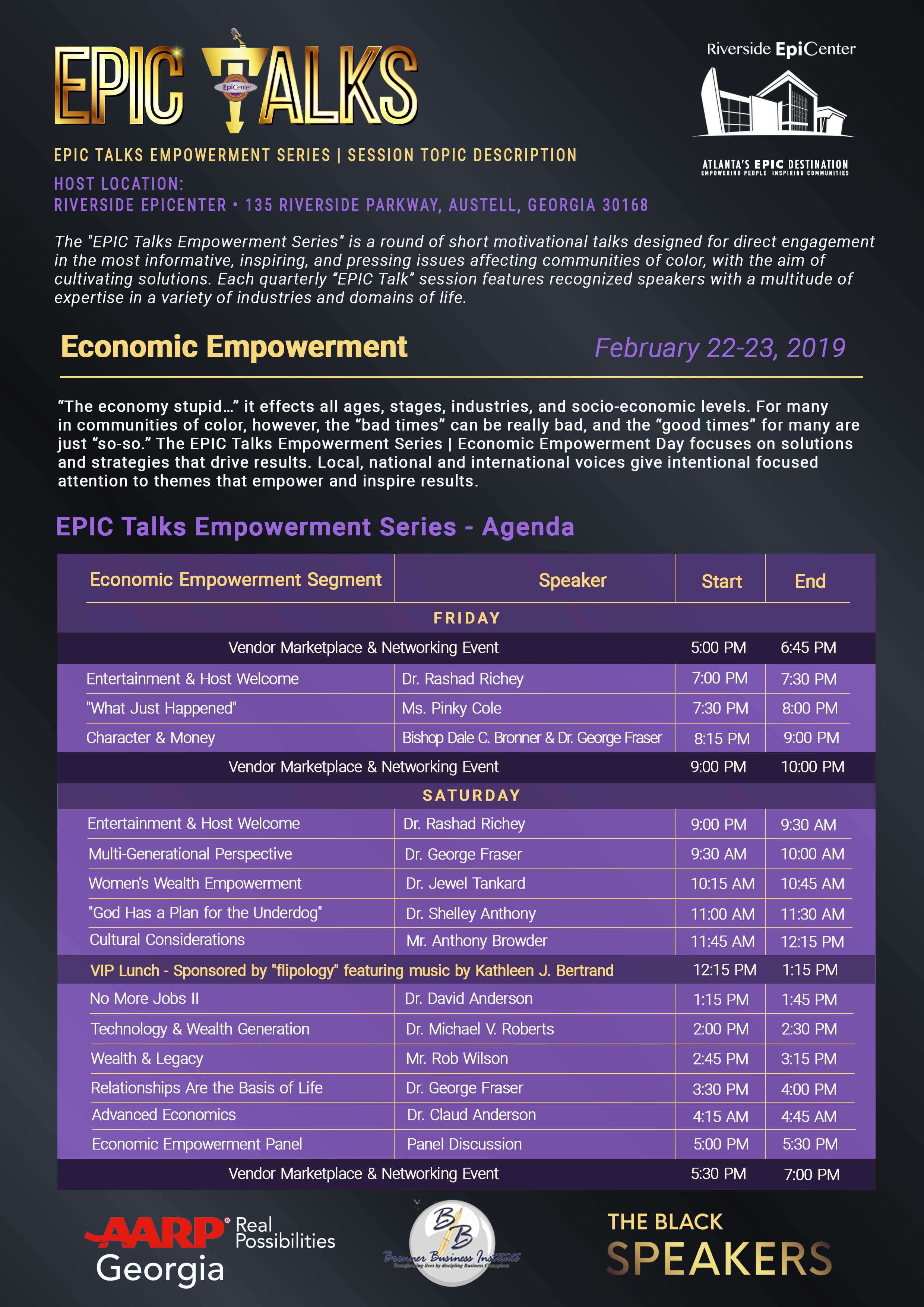 EPIC Talks Economic Empowerment Agenda