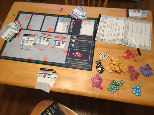 Picture of open game box showing contents