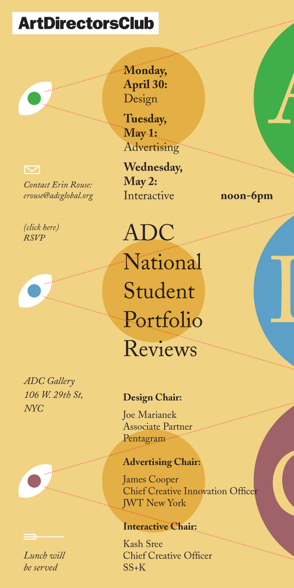 ADC NSPR invite designed by Oliver Munday